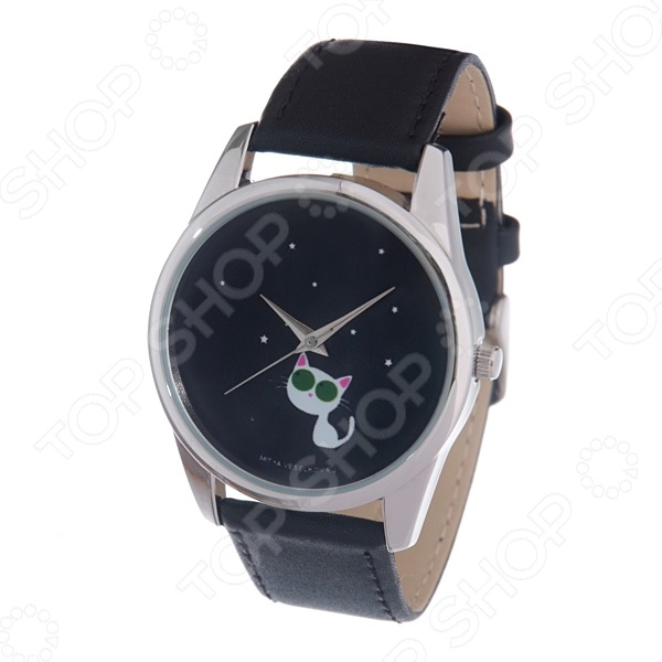 Часы наручные Mitya Veselkov «Кошка и звезды» MV браслеты для часов mitya veselkov ремешок для часов 18мм