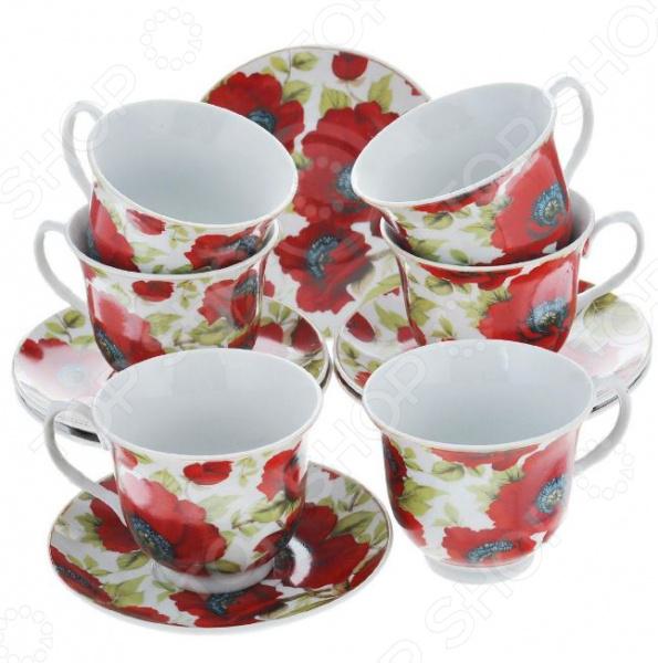 Чайный набор Bekker BK-5976Чайные и кофейные наборы<br>Чайный набор Bekker BK-5976 не просто станет прекрасным дополнением к набору кухонных принадлежностей, но и внесет яркий акцент в сервировку вашего стола. К тому же, он будет отличным приобретением или подарком для любителей чая и позволит превратить обычное чаепитие в настоящий ритуал. Посуда отличается стильным дизайном и великолепным качеством исполнения, изготовлена из высококачественного фарфора и украшена оригинальным цветочным рисунком. В комплект входят шесть чайных чашек с блюдцами. Набор упакован в красивую подарочную коробку.<br>
