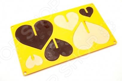 Форма силиконовая Bradex 3D «Сердце» силиконовая форма для изготовления шоколада mayer