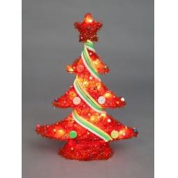 фото Декорация с подсветкой Holiday Classics «Елка новогодняя уличная». Цвет: красный