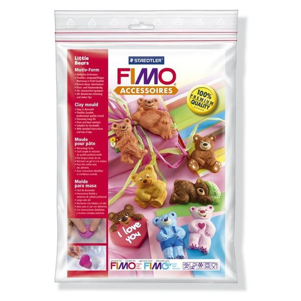 фото Набор формочек для лепки Fimo «Маленькие медведи»