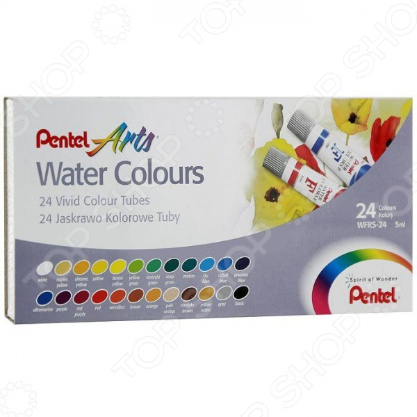 Акварель Pentel Pentel Water Colours: 24 цвета