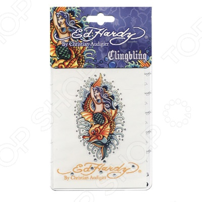 Наклейка со стразами ED Hardy EH-06134 Mermaid