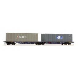 фото Вагон для перевозки грузов Mehano SGGMRSS 90' ERR/MOL