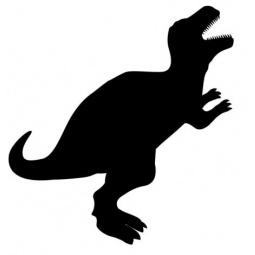 фото Набор: доска для заметок меловая и маркер Securit «Динозавр»
