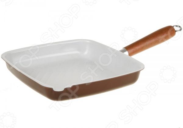 Сковорода-гриль POMIDORO G2642Жаровни и грили<br>Сковорода-гриль POMIDORO G2642 станет отличным дополнением к набору ваших кухонных принадлежностей. Сегодня такие сковороды приобретают все большую популярность как у простых домохозяек, так и у профессиональных кулинаров. Они достаточно функциональны и удобны в использовании, подходит для приготовления овощей-гриль, а так же мясных и рыбных стейков. Посуда выполнена из высококачественных материалов и снабжена керамическим покрытием Kerano. Данное покрытие не содержит в своем составе, вредную для здоровья, перфоктановую кислоту PTFE , не вступает в реакции с продуктами и не искажает вкус приготовленных блюд. Стальное индукционное дно обеспечивает быстрый и равномерный прогрев сковороды.<br>