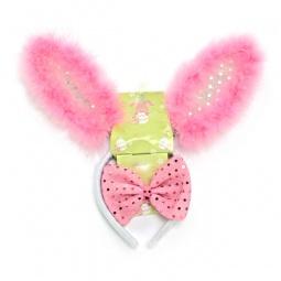 Купить Карнавальный ободок «Уши зайчика с бабочкой»