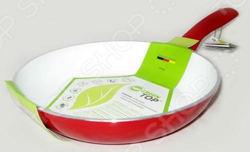Сковорода GreenTop A26Сковороды<br>Сковорода GreenTop A26 это объемная сковорода с высококачественным трехслойным антипригарным покрытием, которая прекрасно подходит для приготовления продуктов. Благодаря специальному покрытию, на ней можно приготовить разнообразные блюда из мяса, рыбы, птицы и овощей практически не используя масло. Готовое блюдо получится не только вкусным, но и полезным. Сковорода имеет толстое дно, что подходит для длительного тушения и приготовления насыщенных соусов. Эта сковорода станет настоящим помощником в приготовлении, кроме того, благодаря теплопроводным свойствам алюминия сковорода подходит для быстрого разогрева пищи.<br>