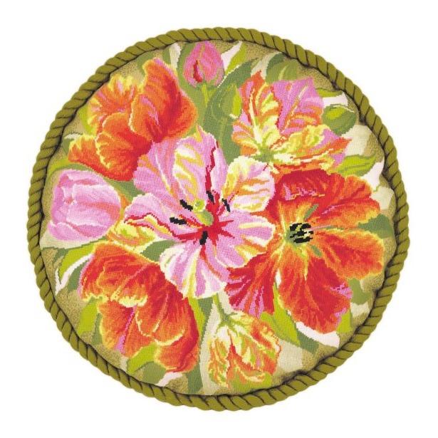 фото Набор для вышивания крестиком Сотвори Сама «Подушка. Тюльпаны»