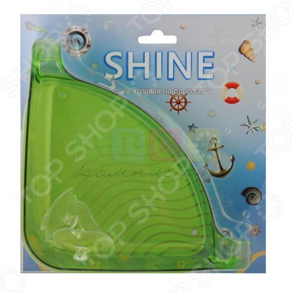 Полка угловая Shine SM-2043Полки для ванной<br>Полка угловая Shine SM-2043 - угловая полка для кухни или ванной. Выполнена из качественного и прочного материала, который легко очищается. Удобное крепление на присосках позволяет легко прикрепить полку к любой гладкой поверхности. Легкий вес позволяет легко перемещать полку с места на место. На полке можно будет разместить множество предметов. Отличная деталь интерьера, которая позволит сэкономить место в комнате.<br>