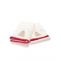 фото Комплект полотенец подарочный TAC Christmas. Цвет: бежевый