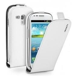 фото Чехол и пленка на экран Muvit Snow Slim Case для Samsung S3 Mini. Цвет: белый