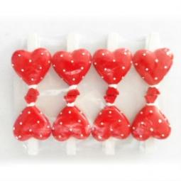фото Набор прищепок декоративных Феникс-Презент «Сердечки в горошек»