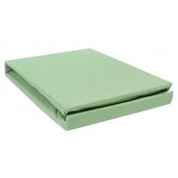 фото Простыня на резинке трикотажная ЭГО. Цвет: зеленый. Размер простыни: 200х200 см