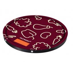 фото Весы кухонные Oursson KS5003GD. Цвет: вишневый