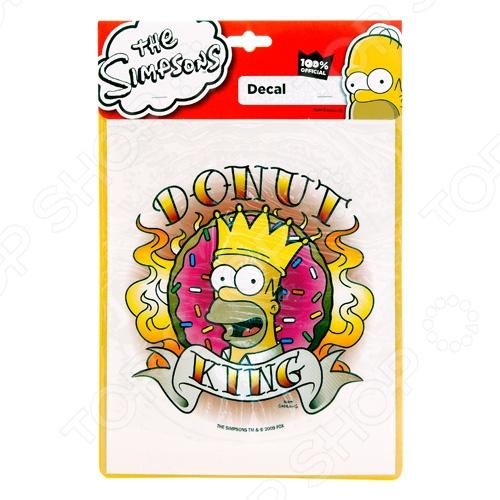 Наклейка автомобильная The Simpsons SP-10327 Donut king