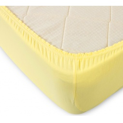 фото Простыня ТексДизайн на резинке. Цвет: желтый. Размер простыни: 200х200 см