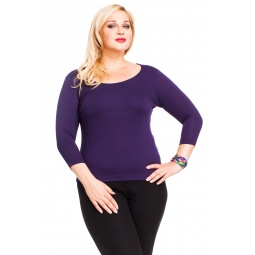 фото Кофта Mondigo XL 023. Цвет: темно-фиолетовый. Размер одежды: 52
