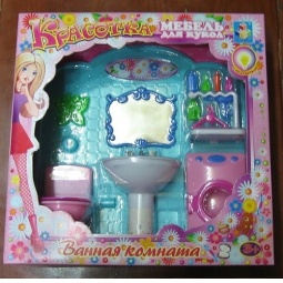 Купить Набор мебели для кукол 1 TOY «Ванная комната»