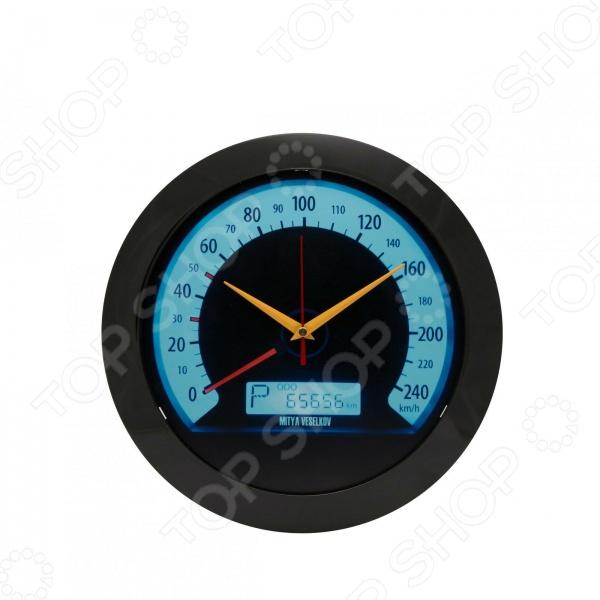 Часы настенные Mitya Veselkov «Скорость»Часы настенные<br>Настенные часы это элегантный и неотъемлемый элемент дизайна любого помещения. Правильно подобранные часы позволяют внести в общий интерьерный ансамбль некоторую изюминку и легкий штрих индивидуальности, собственного стиля. Поэтому к подбору такого значимого и функционального украшения надо подходить с умом. Настенные часы от отечественного бренда Mitya Veselkov станут настоящей находкой для тех, кто следит за трендами современной моды, любит постоянные перемены и предпочитает новаторские решения взамен обыденной классике. Часы настенные Mitya Veselkov Скорость отлично впишутся в интерьер вашей гостиной или детской комнаты. Корпус кварцевых часов выполнен из качественного пластика, который гарантирует не только их легкость, но и практичность, легкий монтаж и уход. Круглый циферблат надежно защищен прочным и качественным стеклом. Эксклюзивный дизайн часов позволит подчеркнуть оригинальность интерьера вашего дома и выразить вашу индивидуальность, а их яркая и сочная расцветка станет настоящим источником хорошего настроения. Создайте неповторимую атмосферу уюта и комфорта с необычными настенными часами Mitya Veselkov Скорость !<br>