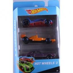 фото Набор машинок Mattel Hot Wheels PK5904. Цвет: голубой, оранжевый, фиолетовый