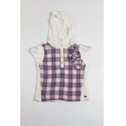 Купить Рубашка детская Fore N Birdie Crinkle plaid hoodie with knit inset
