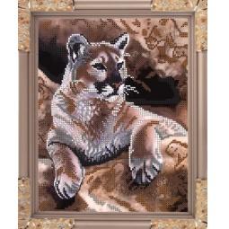 Купить Набор для вышивания бисером Светлица «Тигр»