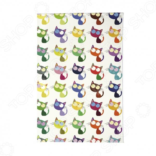 Обложка для паспорта Mitya Veselkov «Цветные кошки в ряд»