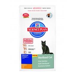 фото Корм сухой для стерилизованных пожилых кошек Hill's Science Plan Sterilised 7+. Вес упаковки: 300 г