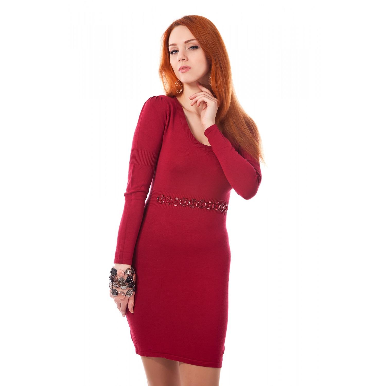 ebdb0a2f35bbe Платье Mondigo 9766. Цвет: бордовый. Размер одежды: 44 купить по ...