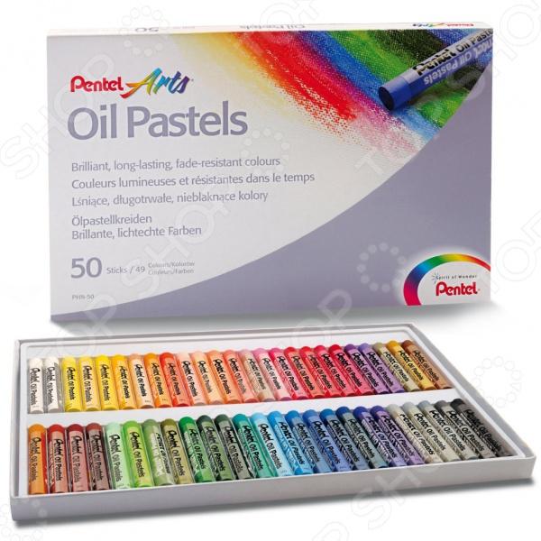Пастель масляная Pentel Oil Pastels PHN4-50Уголь. Пастель. Краски. Блестки<br>Пастель масляная Pentel Oil Pastels PHN4-50 - художественные материалы применяемые в графике и живописи на масляной основе. В наборе находится 50 мелков без оправы, которые имеют форму брусков с круглым сечением. Такой богатый спектр оттенков позволяет осуществить самые смелые замыслы. Мелки расположены в коробке, которая позволяет аккуратно хранить мелки и удобно переносить с места на место. Такой набор станет прекрасным подарком для юного любителя творчества.<br>