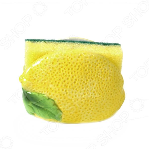 Подставка для губки Elan Gallery «Лимон» 110732 лимонницы elan gallery подставка под лимон белый шиповник