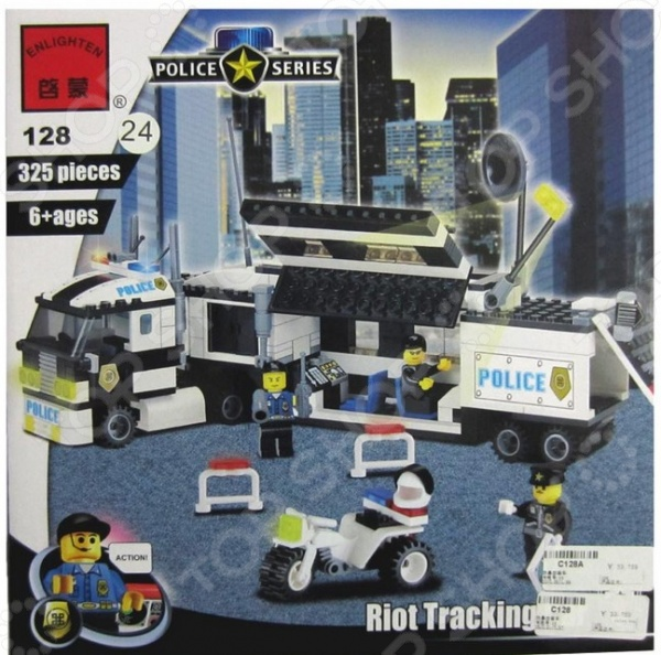 Конструктор игровой Brick «Полицейский участок» 1717089Игровые конструкторы<br>Конструктор игровой Brick Полицейский участок 1717089 это яркий конструктор для детей, в котором он найдет все необходимый детали для создания своей истории про бравых полицейских и их приключениях! Большое количество деталей подойдут для детей старше шести лет, они отлично различимы для ребенка и он точно поймет что с ними необходимо делать и как сконструировать полноценную модель. Конструкторы такого типа развивают пространственное и логическое мышление, фантазию, творческие способности и мелкую моторику рук. В комплекте есть минифигурки людей.<br>