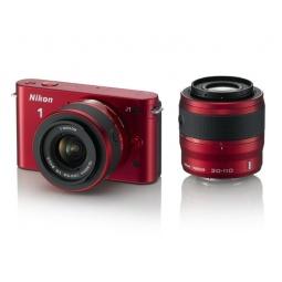 фото Фотокамера цифровая Nikon 1 J1 Kit 10-30mm / 30-110mm. Цвет: красный