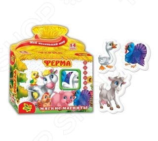 Игра развивающая на магнитах Vladi Toys «Ферма» игра vladi toys ферма vt3101 03