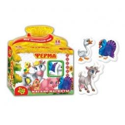 фото Игра развивающая на магнитах Vladi Toys «Ферма»
