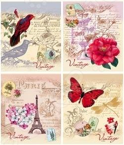 Тетрадь в клетку Проф-Пресс «Ассорти из цветов и бабочек». В ассортименте