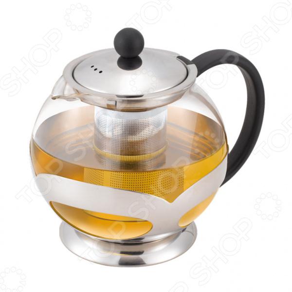 Чайник заварочный Miolla 1014078UЧайник заварочный Miolla 1014078U сделан из термостойкого стекла и нержавеющей стали, которая не вступает в реакцию с напитками, а также не влияет на запах и вкус готового изделия. Дополнительно снабжен фильтром сетчатая форма, в которую насыпается чай. Посуда из стекла позволяет максимально сохранить полезные свойства и вкусовые качества воды. Прозрачные стенки чайника придают ему эстетичности на столе. Заварите крепкий, ароматный чай в представленном чайнике, и вы получите заряд бодрости, позитива и энергии на весь день. Легко отмывается в посудомоечной машине, либо вручную. Совет от магазина: чтобы избежать повреждений, ни в коем не используйте чайник на открытом огне или в СВЧ .<br>