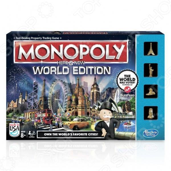 Настольная игра Hasbro «Всемирная монополия» B2348Экономические игры<br>Игра настольная Hasbro Дорожная Монополия занимательная игра, которая позволит интересно провести время в кругу семьи и друзей. Главная задача в том, чтобы получить как можно больше влияния и денег. Торгуйтесь, скупайте, продавайте и веселитесь вместе с компанией. В этой игре можно покупать целые города, путешествуя по самым невероятным местам. Когда вы ставите штамп в паспорте, вы становитесь на шаг ближе к победе. В игре есть специальные фишки мировых достопримечательностей: Статуя Свободы, Эйфелева башня, египетский Сфинкс и каменный идол Моаи с острова Пасхи. Настольная игра это, как правило, игра для нескольких человек. Казалось бы, в наш компьютерный век интерес к настольным играм пропадает. Тем не менее, это не так. И нет лучшего семейного развлечения, чем настольные игры, которые объединяют всех членов семьи за одним столом, помогают переключиться от забот и с пользой и удовольствием провести время в дороге, не скучать в дождливый день, а заодно потренировать память и логическое мышление, реакцию и сноровку. В комплекте есть всё необходимое для игры: игровое поле, 4 фишки-фигурки, 4 пластиковых паспорта, 42 игровые пластиковые марки 22 штампа локаций и 20 штампов первого класса , 14 карточек шанс , 14 карточек здесь и сейчас , пачка купюр, контейнер с разделителями, 2 кубика, инструкция. В игре могут участвовать от 2х игроков.<br>