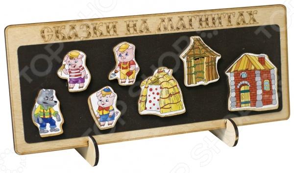 Доска магнитная для ребенка БЭМБИ «Сказки на магнитах. Три поросенка»