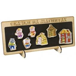 Купить Доска магнитная для ребенка БЭМБИ «Сказки на магнитах. Три поросенка»