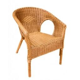фото Кресло плетеное из натурального ротанга