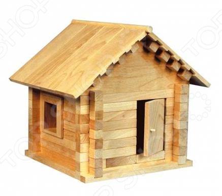 Конструктор деревянный Теремок «Избушка Теремок» пелси пелси деревянный конструктор избушка теремок с куклой и росписью 94 детали