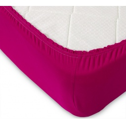 фото Простыня ТексДизайн на резинке. Цвет: бордовый. Размер простыни: 160х200 см