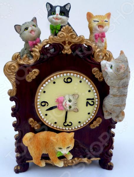 Музыкальная шкатулка Crystal Deco «Часы с котятами»
