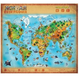 Купить Плакат электронный звуковой ЗНАТОК «Живая география»