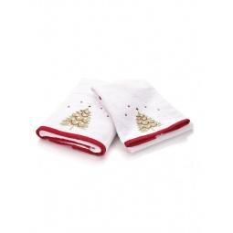 фото Комплект полотенец подарочный TAC Christmas. Цвет: белый