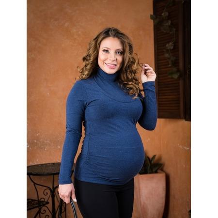 Купить Водолазка для беременных Nuova Vita 1403.06. Цвет: синий