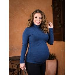 фото Водолазка для беременных Nuova Vita 1403.06. Цвет: синий. Размер одежды: 44