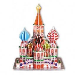 Купить Пазл 3D CubicFun «Собор Василия Блаженного»